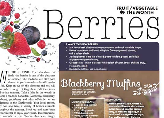 Berries - July Featured Fruit / Vegetable of the Month
