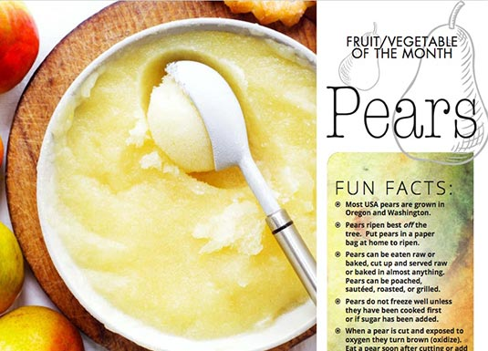 Fruit of the Month - Pears