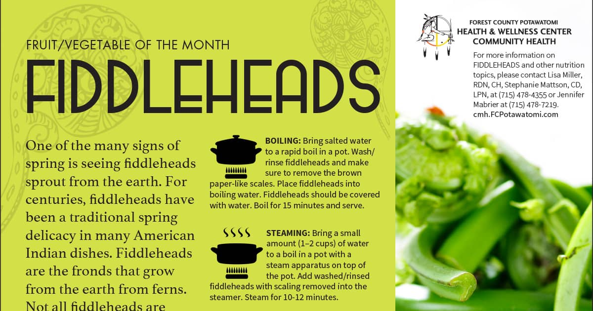 Fiddleheads - Featured Vegetable of the Month